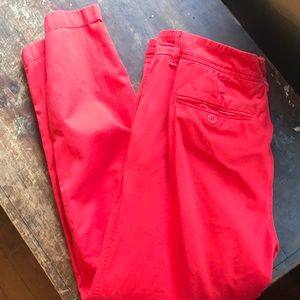 Jcrew Red Chino Pants Size 8